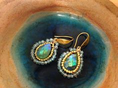 Green chrysoprase earrings - Chrysoprase & Topaz earrings- Boho earrings-mint green earring-Matana Jewelry -Gift idea