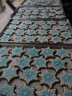 snowflake cookies for desserts for fd party