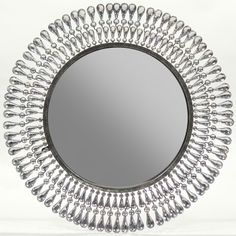 Starburst Mirror Silver Glass Stones create an original frame design. $162.00 + Free Nationwide Shipping