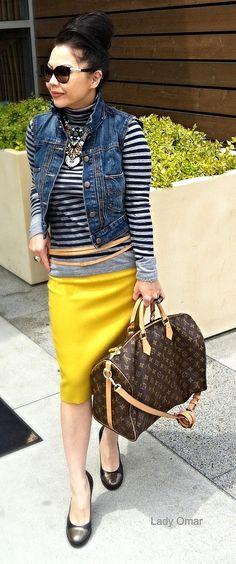 Lady Omar Glam Rock LV Speedy bag