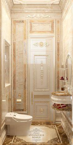 Красивый дизайн дамской комнаты - Luxury Antonovich Design in 2020 Palace Interior, Mansion Interior, Luxury Homes Interior, Home Interior Design, Dream Bathrooms, Beautiful Bathrooms, Tuscan Bathroom, Classic Bathroom, Bathroom Design Luxury
