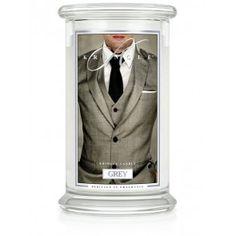 Kringle Candles - Grey - Large 2 Wick Classic Jar