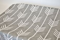 Changing Pad Cover  Grey Arrows by ModFox on Etsy, $35.00