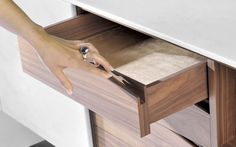 Contemporary sideboard / wooden / marble / white - TRIGONO by Fábio Teixeira & Sérgio Costa - TCC WHITESTONE _ MAAMI HOME _ WHITESTONE - Videos