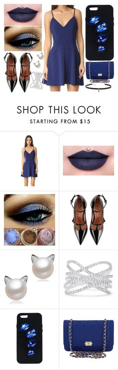 """""""All Blue Everything // Loving WWE 2K17"""" by thekaylabella ❤ liked on Polyvore featuring Amanda Uprichard, Jeffree Star, RED Valentino, Effy Jewelry, STELLA McCARTNEY, Chanel and Carbon & Hyde"""