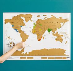 A fun scratch-off travel map to keep track of your adventures.