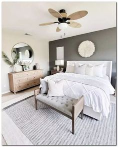 Neutral master bedroom details care of for Desi. - Neutral master bedroom details care of for Desi. Bedroom Decor Master For Couples, Small Master Bedroom, Master Bedroom Design, Home Decor Bedroom, Master Bedrooms, Master Suite, Bedroom Plants, Simple Bedrooms, Bedroom Art