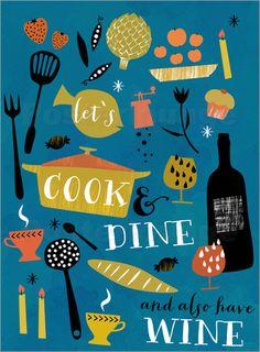 lässt cookand dine: Poster & Kunstdruck von Elisandra