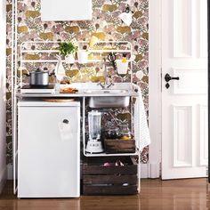 Aufs Wesentliche reduziert. #kitcheninspo #SUNNERSTA #miniküche #meinIKEA
