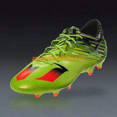 purchase cheap 57a85 552dc Tacos de futbol Adidas Messi 15.1 FG AG Semi Limo Solar Negro Rojo Solar