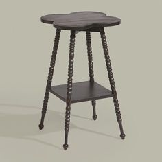 Antique Black Clover Table