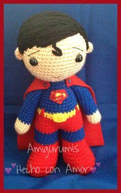 Superman www.facebook.com/Amigurumishechoconamor.com https://www.facebook.com/Amigurumishechoconamor?fref=photo