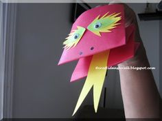 This is a very simple puppet to make by folding an A4 piece of paper. Craft Ideas for all: Finger Puppets- Dragon and Frog