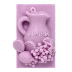 Molde de silicona  para hacer jabón, Pastilla Jarra de Sangría, apto para hacer jabón de glicerina. Ideal para que hagas tus souvenirs. DIY.