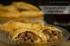 Empanadas argentinas con salsa chimichurri