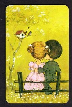 〆(⸅᷇˾ͨ⸅᷆ ˡ᷅ͮ˒) vintage sweet couple swap card