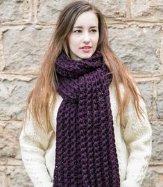 Chunky Scarf  Extra Long Scarf  Long Winter Scarf by MercierMarche