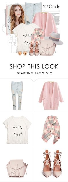 """Sem título #2273"" by bellerodrigues ❤ liked on Polyvore featuring Madewell, Maison Michel, Topshop, Valentino and Marni"