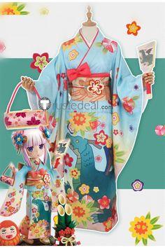 Miss Kobayashi's Dragon Maid Kanna Kamui and Tohru Kimono Cosplay Costume Costume Wigs, Cosplay Costumes, Kanna Kamui, Aesthetic Grunge Outfit, Anime Conventions, Miss Kobayashi's Dragon Maid, Kimono Style, Kimono Fashion, Grunge Outfits