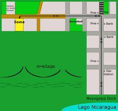 Map, Moyogalpa, Ometepe Island