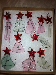 sea glass tree ornaments...a big hit at the craft show