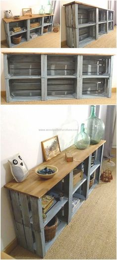 Rustic creations from used wooden pallets Rustic home decor and design ideas. - Rustic creations from used wooden pallets Rustic home decor and design ideas. Diy Pallet Furniture, Furniture Projects, Wood Furniture, Wood Projects, Outdoor Furniture, Rustic Furniture Stores, Furniture Dolly, Furniture Movers, Coaster Furniture