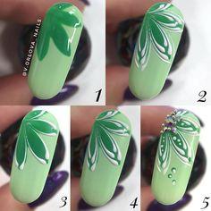 Nail designs here! Nail Art Designs Videos, Nail Polish Designs, Spring Nail Art, Spring Nails, Nail Art Fleur, Tulip Nails, Nail Drawing, Nail Mania, Flower Nail Art