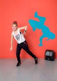 WALL*MANIA muursticker | wall decal #dancer #hiphop