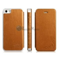 Joyroom Prague Series Printed Steel Wire Texture Protective Case for iPhone 5(Brown)