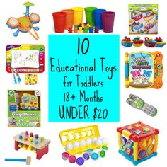 10 Educational Toys for Toddlers Under STEM g Best Toddler Toys, Best Kids Toys, Toddler Books, Toddler Gifts, Children Toys, Toddler Class, Toddler Fun, Educational Toys For Toddlers, Educational Toys For Kids