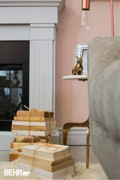 Add A Chic And Glamorous Feel To Your Home By Incorporating Some Rose Gold  Lighting And · Peach Paint ColorsRoom ...