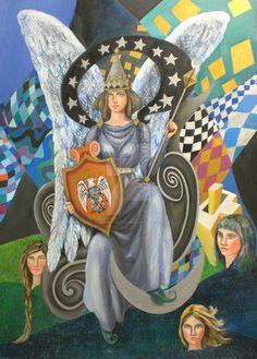 the tarot - The Empress 3 oil painted on panel 50x70 cm, 28x20 in.