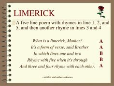 poetry limerick examples - Google Search