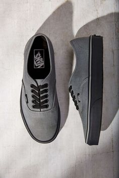 Vans Authentic Black Sole Women's Sneaker the best ones I've seen by far Vans Sneakers, Tenis Vans, Sneakers Mode, Mens Vans Shoes, Sock Shoes, Cute Shoes, Me Too Shoes, Shoe Boots, Shoes Heels