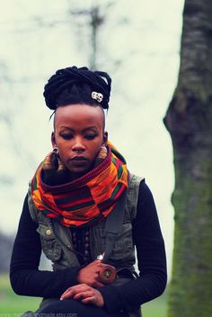 Don't have Afro hair to braid but could be done! Afro Punk, African Beauty, African Fashion, Dreads, Black Girls, Black Women, Fashion Models, Fashion Trends, Streetwear