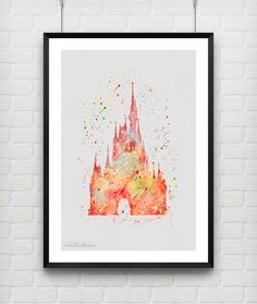 Hey, I found this really awesome Etsy listing at https://www.etsy.com/listing/216989794/cinderellas-castle-disney-watercolor-art