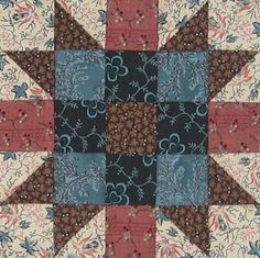 New England Block Quilt Block Barbara Brackman Civil War Quilt