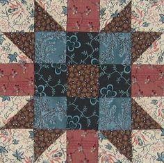 New England Block Quilt Block Barbara Brackman Civil War Quilt