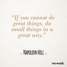 WeWork #inspirational #quote/ Napoleon Hill