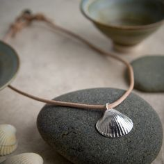 Fine Silver Cockle Shell Necklace
