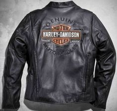 Harley Davidson Men's ROADWAY Black Leather Jacket Bar & Shield 2XL 98015-10VM