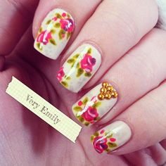 Floral and stud accent