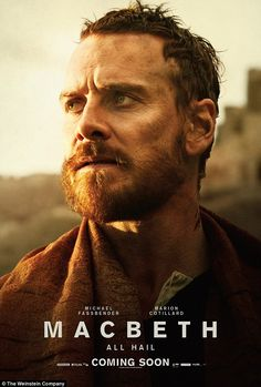 Aftermath: In new posters for Justin Kurzel's adaptation of Macbeth Michael Fassbender strikes a traditional pose as he broods over the sunset