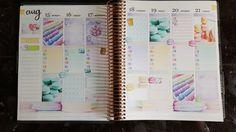 Plan With Me - Erin Condren Life Planner Week 33 ♡ 2016 Timelapse