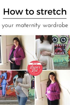 How to stretch your maternity wardrobe. Pregnancy fashion, maternity fashion, bump fashion, breastfeeding, nursing clothes