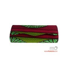 Afro print clutch