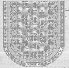 croche: doily Crochet Doily Diagram, Crochet Motif, Free Crochet, Knit Crochet, Weaving Patterns, Lace Patterns, Crochet Blanket Patterns, Oval Tablecloth, Crochet Tablecloth