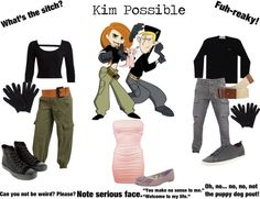 """Kim Possible Feat. Ron Stoppable and Rufus"" by onedirectionginger ❤ liked on Polyvore"