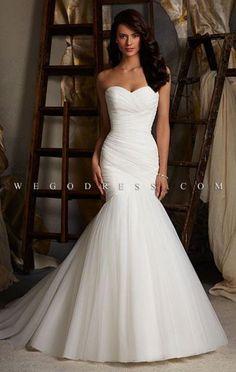 Simple, beautiful wedding dress.