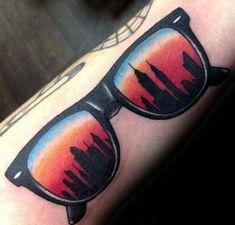 60 New York Skyline Tattoo Designs für Männer - Big Apple Ink Ideen